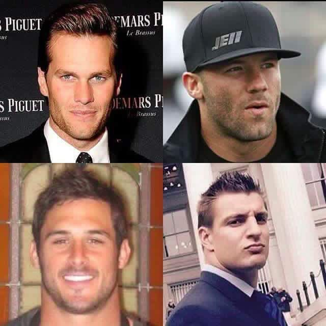 Yup!! All 4 of the hottest Patriots players...God Bless the New England Patriots!!