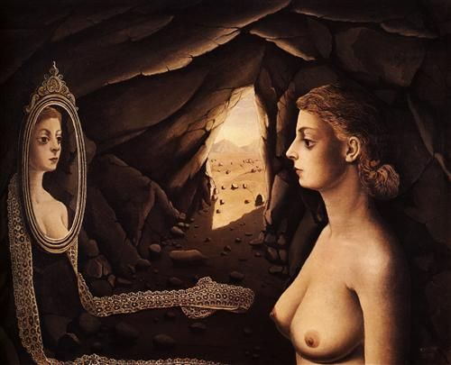 Woman in a Cave - Paul Delvaux