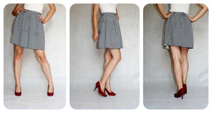 Spódniczka w pepitkę :) www.facebook.com/matmari.pracownia
