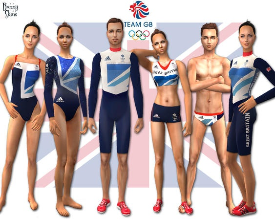 Team GB by *Bunny* http://www.thesimsresource.com/downloads/1164944