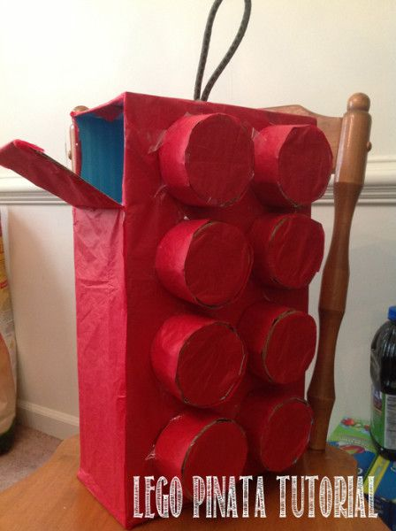 Step by Step #LEGO #Pinata Tutorial. Will only Cost you $2 for the bungee and tissue paper. Simple and Easy to make.