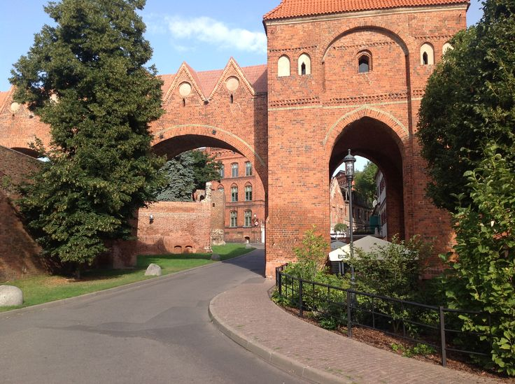 The entrance to the old castle in Torun