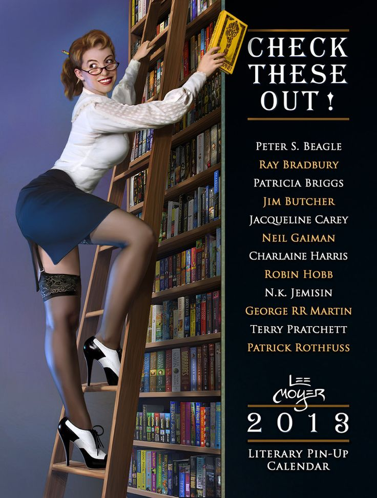 Patrick Rothfuss and Lee Moyer are at it again, this time with a pin-up calendar featuring more modern authors.