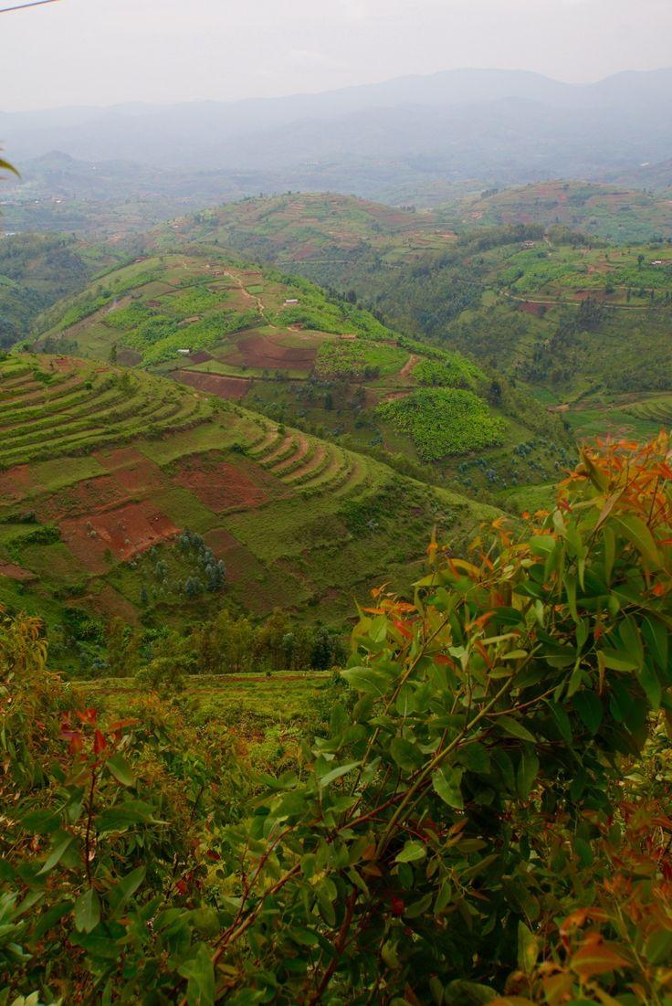Beautiful Rwanda. Land of a thousand hills.