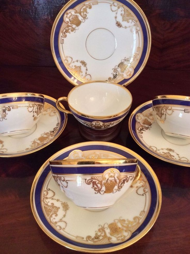 Set 4 Dresden Ambrosius LAMM Hand Painted Porcelain Cup \u0026 Saucers Cobalt \u0026 Gold & 26 best Fine Austrian - German China \u0026 Porcelain images on Pinterest ...