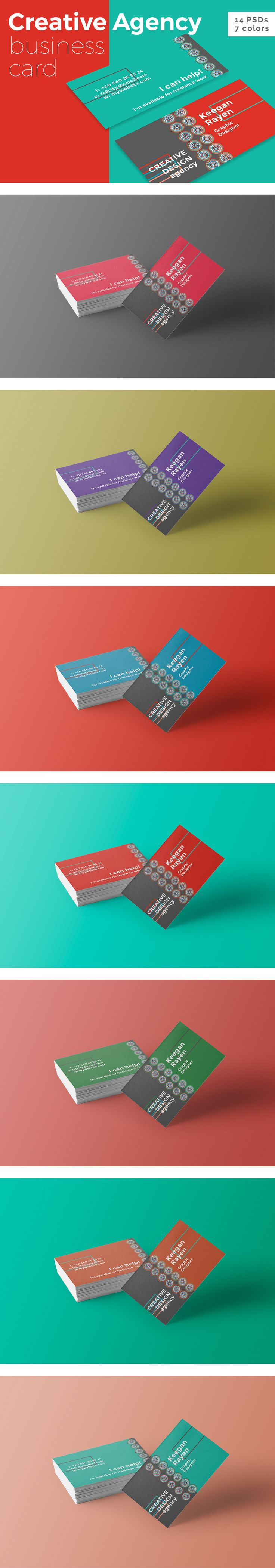 Creative Design Agency Business Card