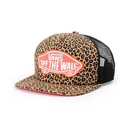 Vans Women's Beach Girl Leopard Herringbone Trucker Hat