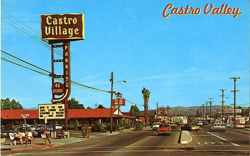 Castro Village shopping center and Castro Valley Blvd.
