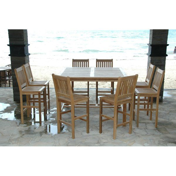 Want To Buy Windsor 9 Piece Teak Bar Height Dining Set By Anderson Teak Furniture Patiofur Teak Outdoor Furniture Outdoor Dining Set Outdoor Living Furniture