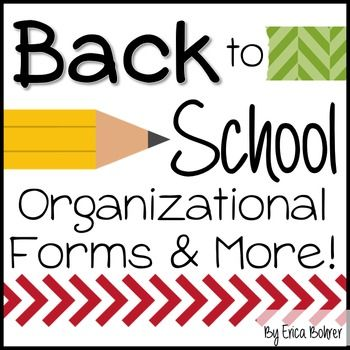 Back to School Organizational Forms and More!This 150 pages plus download contains organizational forms, letters, and more.  It has everything you need to be organized going back to school!   Whats included: Parent communication logParent questionnaireLunch slip letter and lunch slipsClass directory letter and directory form (PowerPoint version included)Project bag and folder lettersDismissal form (PowerPoint version included)Reproducible absent and lateness/early departure notes (3…