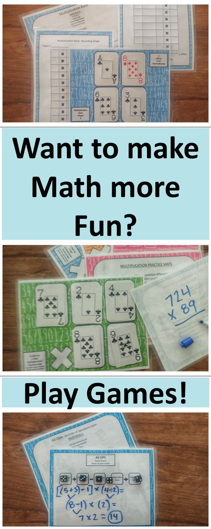 Math Games & Activities 5th Grade | math from TPT | Pinterest