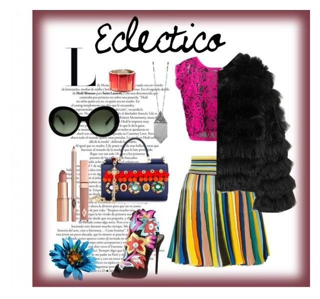 Estilo Eclectico by carlablasco on Polyvore featuring moda, Kansai Yamamoto, Alice + Olivia, Missoni, Giuseppe Zanotti, Dolce&Gabbana, Oscar de la Renta, House of Harlow 1960, Prada and Dolce Vita