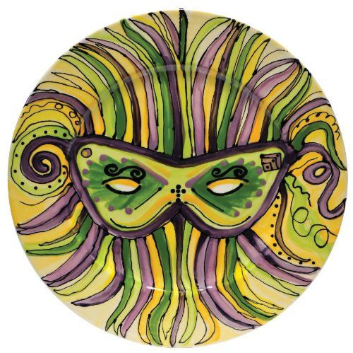 Caffco International Dana Wittmann Round Ceramic Serving Plate Mardi Gras Mask  sc 1 st  Pinterest & 19 best Mardi Gras- Inspired by others images on Pinterest | Mardi ...