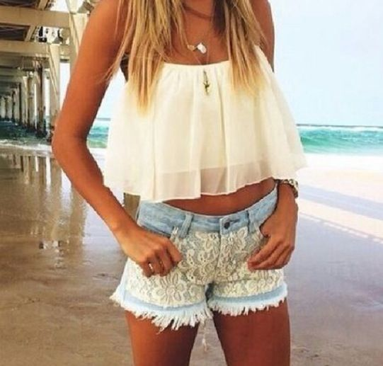 Fun for the boardwalk summer outfit for teens