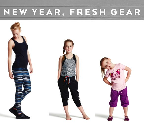 Get on track with your fitness goals in workout gear from Pure Lime for both women & girls.
