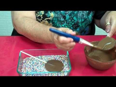 Marjorie's Candies Chocolate Snow Caps or Nonpareils - YouTube