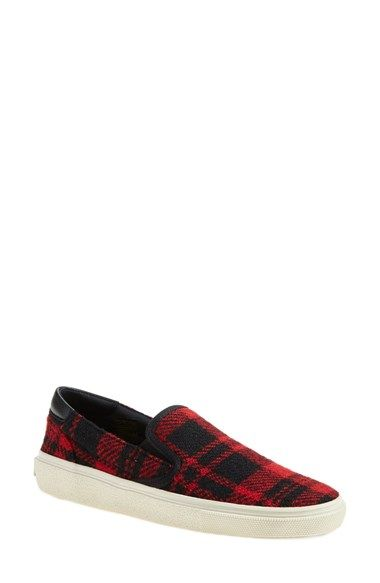 Saint Laurent 'Skate' Slip-On Sneaker (Women) available at #Nordstrom: Pretty Shoes, Fly Shoes, Sneakers Women, Athletic Shoes