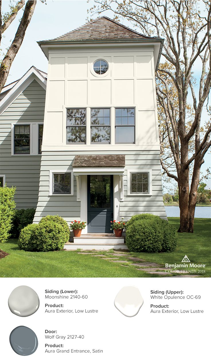 Two neutral hues come together to create a dynamic fresh exterior
