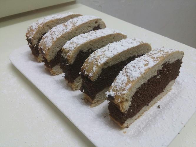 פס בצק פריך ושוקולד