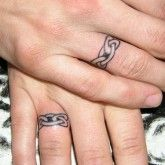 wedding ring Tattoo Ideas   ring tattoo designs are the best alternate of rings as it is the ...