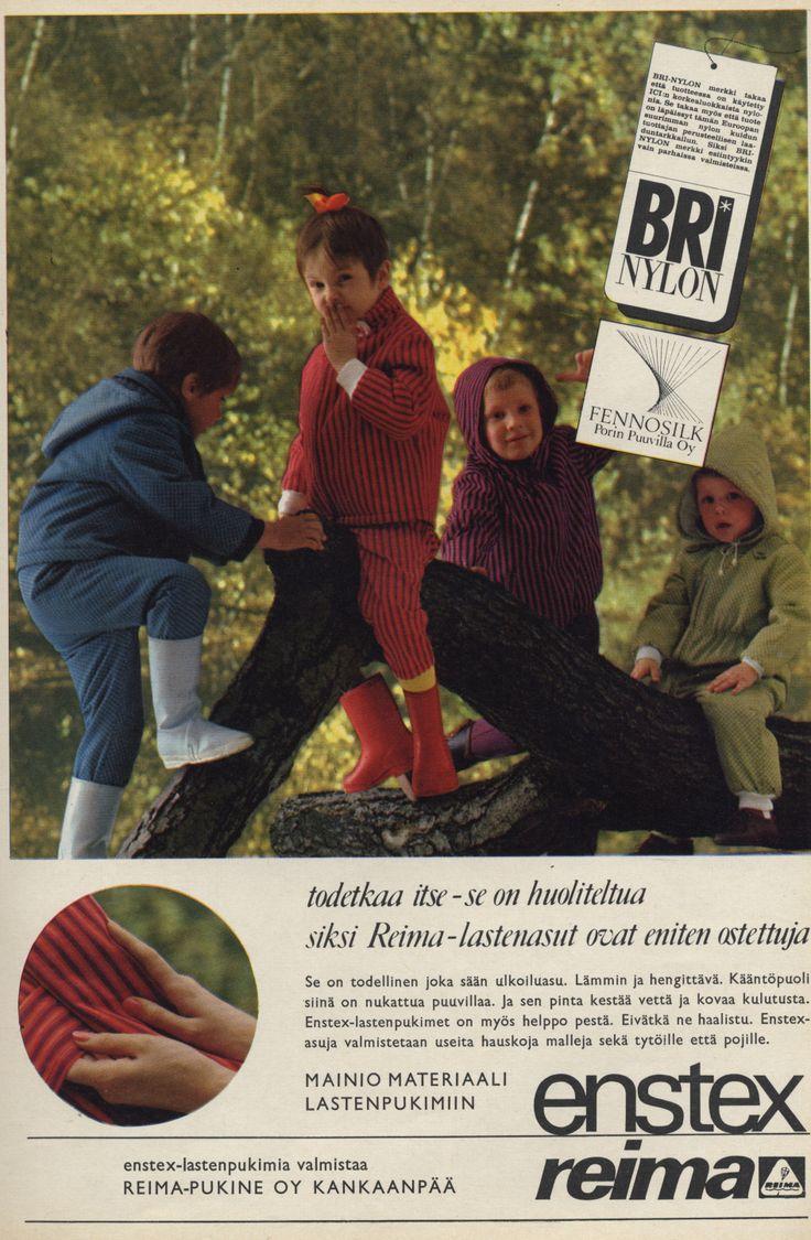 Reima/Enstex children's outer wear, 1967