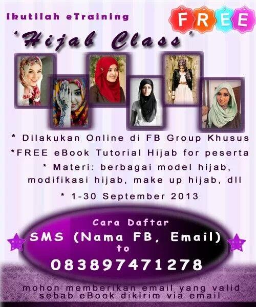 Training hijab online gratis full satu bulan penuh gratis