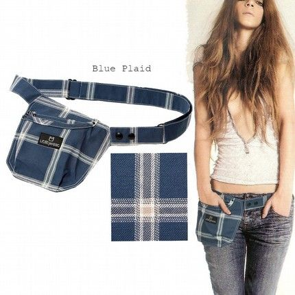 Etsy Cargobelt Tool belt bag pouch Cell phone PDA Ipod wallet Holster Fannypack Apron blue plaid - Stylehive