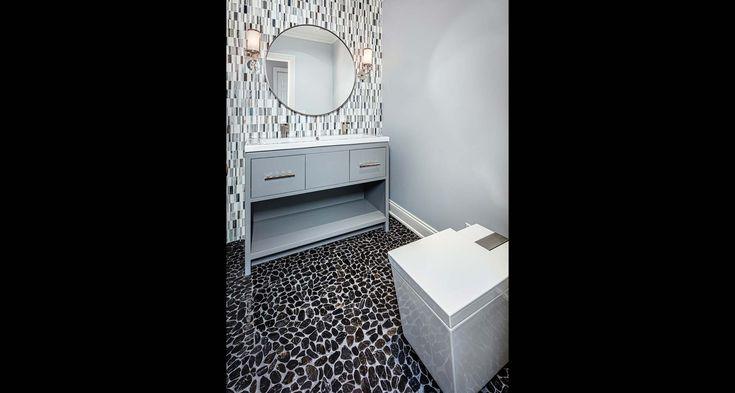 Hemingway Construction   Gallery of Bathrooms   Modern Bathroom   Mosaic   Rocks (Floor)