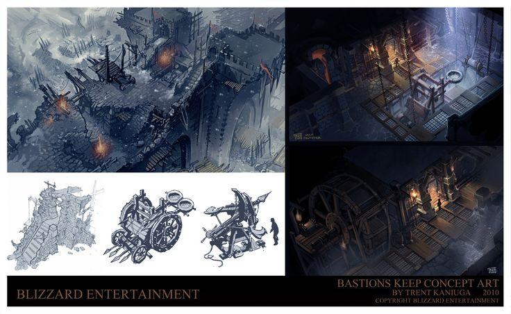Diablo 3 Bastions Keep , Trent Kaniuga on ArtStation at https://www.artstation.com/artwork/Noo8d