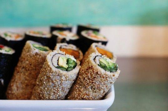 Gluten Free Nori rolls from The Earth Food Store, Bondi, NSW