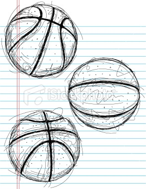 sketchy hand drawn basketballs on notebook paper the artwork and basketball doodlebasketball drawingssports - Easy Sports Drawings