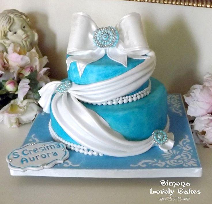 Torta Cresima Turchese
