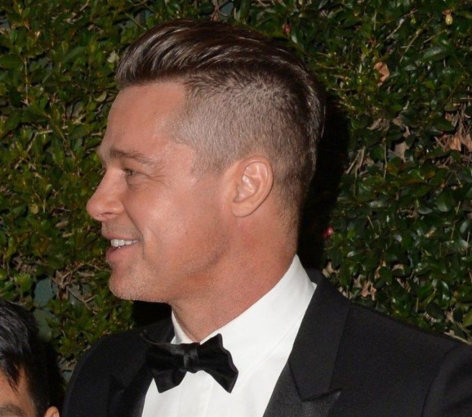 Brad Pitt at his best with a barber shop haircut