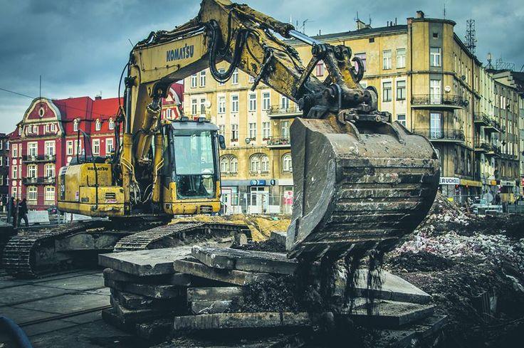 Zemsta maszyn? Nie - to #DTŚw Gliwicach w budowie #styczeń2015 #gliwice (fot. K. Krzemińsk)