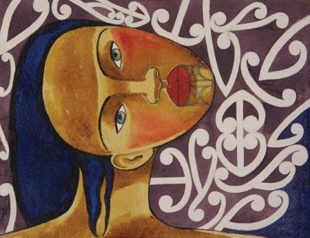 Robyn Kahukiwa painting