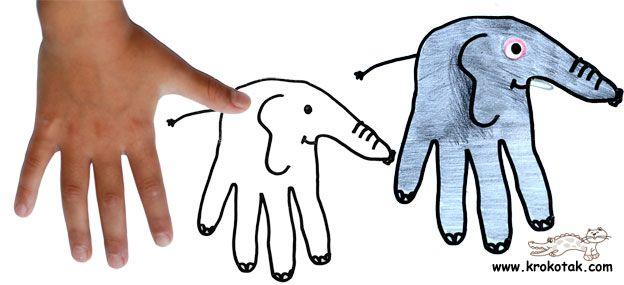 elephant hand drawing