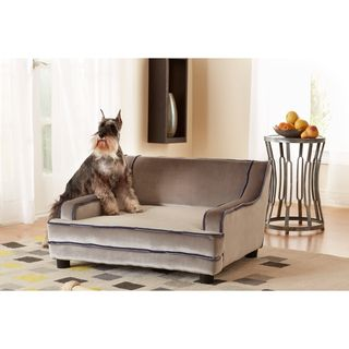 @Overstock - PThis comfortable pet bed will add a stylish touch to your living space. A velvet upholstery and felt gliders highlight this luxurious pet bed.  http://www.overstock.com/Pet-Supplies/Enchanted-Home-Pet-Mid-century-Modern-Pet-Bed/7712234/product.html?CID=214117 $149.99