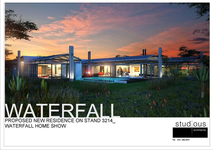 WATERFALL HOME SHOW_ DESIGN BY STUDIOUS ARCHITECTS_ SOUTH AFRICA