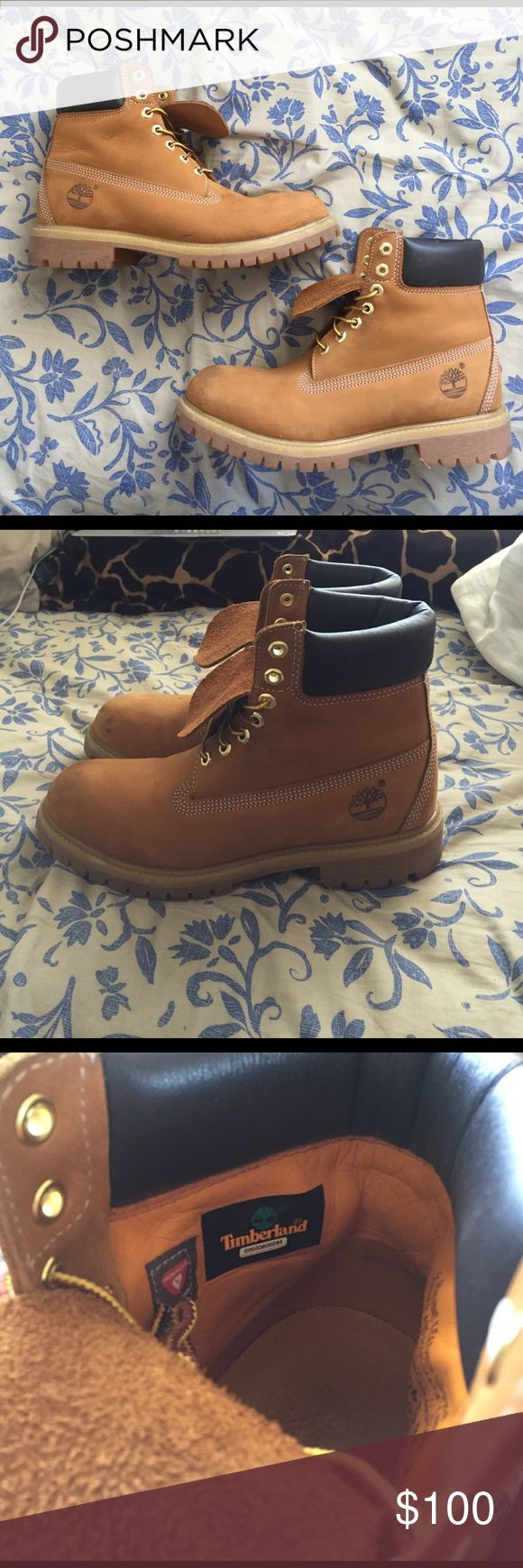 """Timberland Boots Timberland 6"""" Premium Waterproof Boots Rust Nubuck Size 9 M (medium width) . A little scuffed up but can easily be cleaned with suede shoe cleaner. Only worn a couple times. Timberland Shoes Boots"""