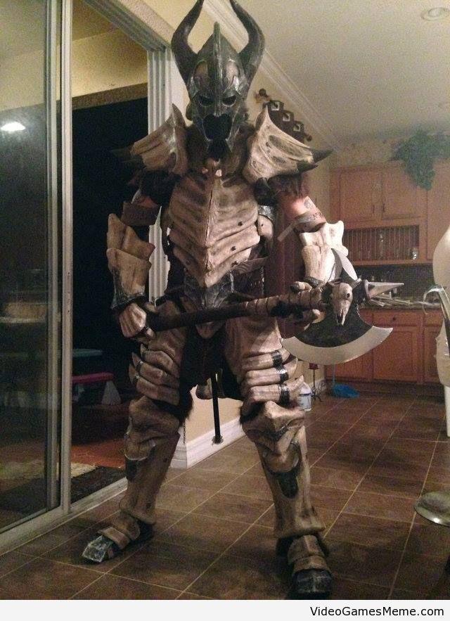 Dragonbone armor - http://www.videogamesmeme.com/cosplay/dragonbone-armor/
