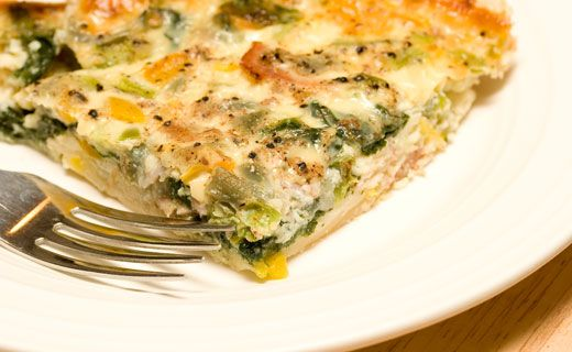 Epicure's Cheese and Spinach Frittata