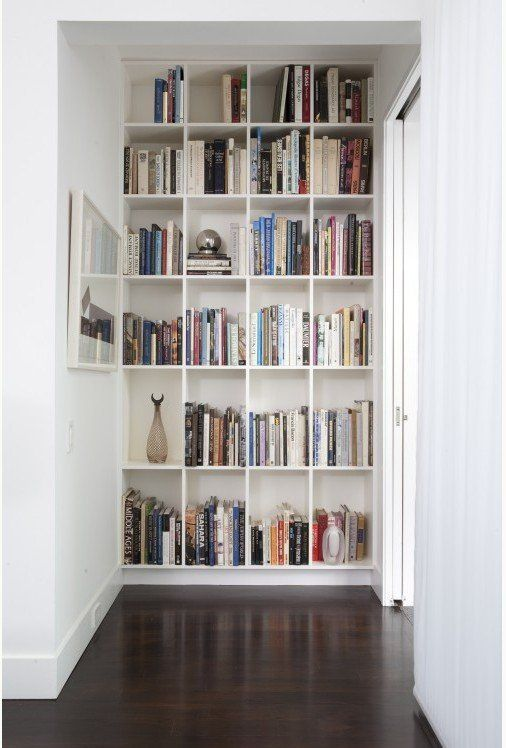 If you have a little niche that's going unused, or a dead spot in your hallway — turn that sucker into a library. You'll be glad you did.