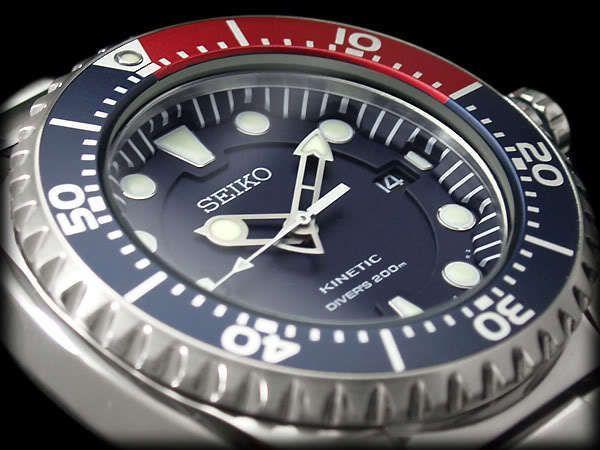 SEIKO Diver Kinetic SKA369P1 Orologio Subacqueo 200m Scuba Watch