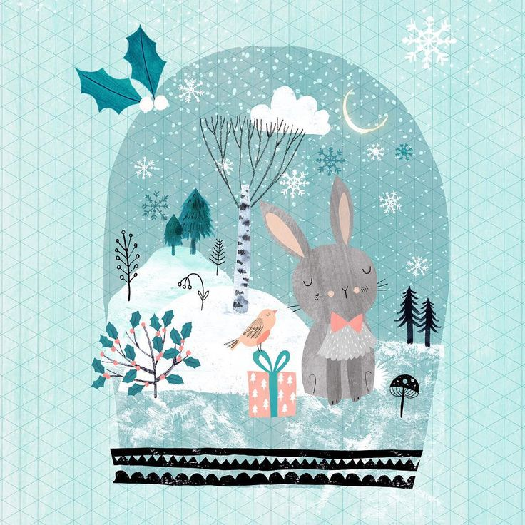 It's December! My favorite time of the year. #Christmas #illustration #snowglobe