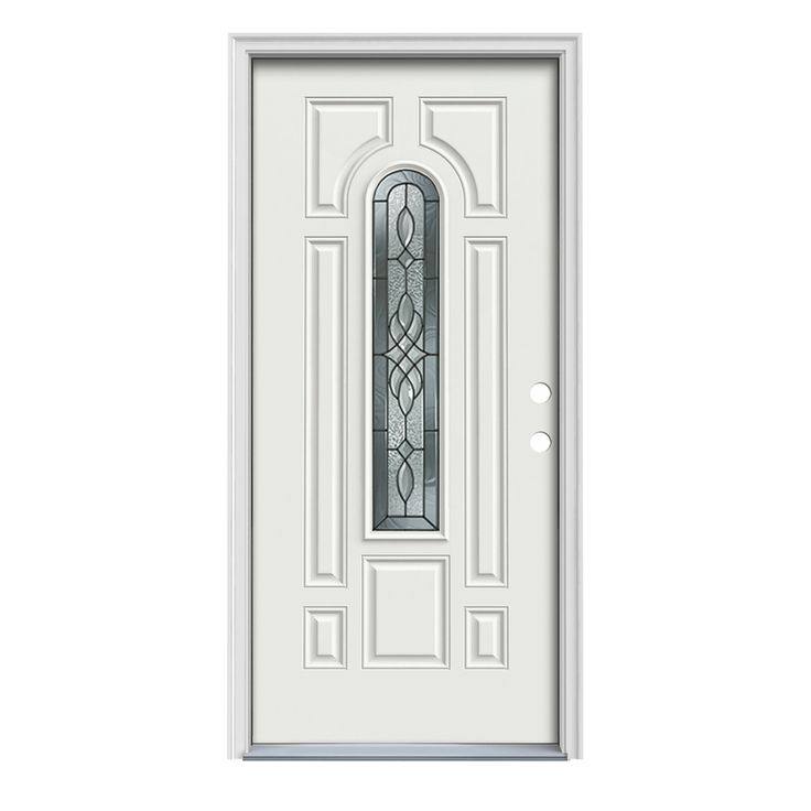 Jeld Wen Hampton 8 Panel Insulating Core Center Arch Lite