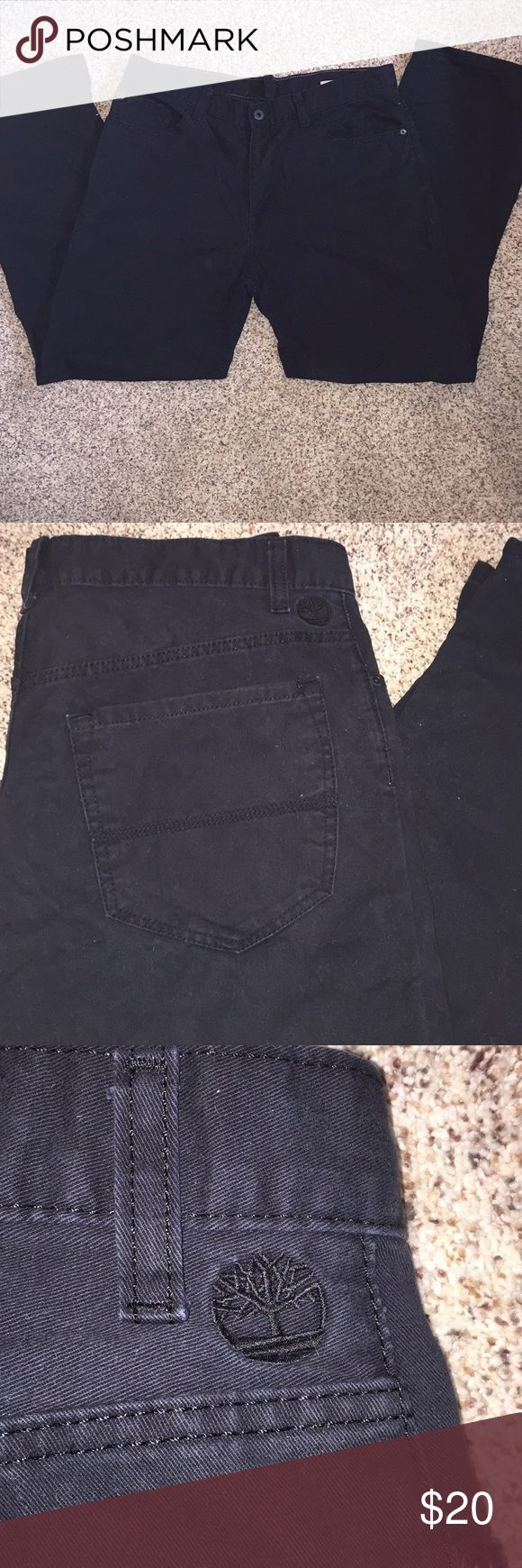 Men's timberland black pants. Size 34W 30L Very nice Men's Timberland black denim pants. Size 34/30. Gently used, shows no signs of being worn. Timberland Jeans Straight