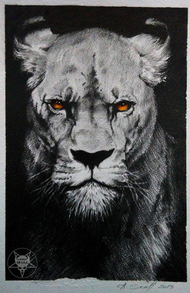 lion by AndreySkull on @DeviantArt