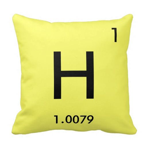 "Hydrogen Element Polyester Throw Pillow 16"" x 16"""