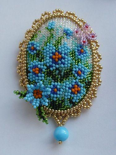 square stitch bkground, embellished