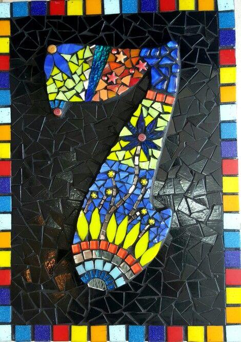 Aymone 's stunning creation from her Mosaic class at Mosaic Studio.
